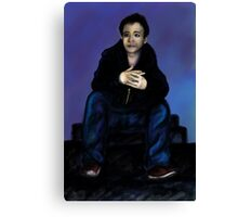 Portrait on the stairs. Canvas Print