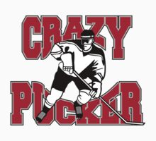 Crazy Hockey Player by SportsT-Shirts