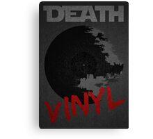 Death Vinyl Canvas Print