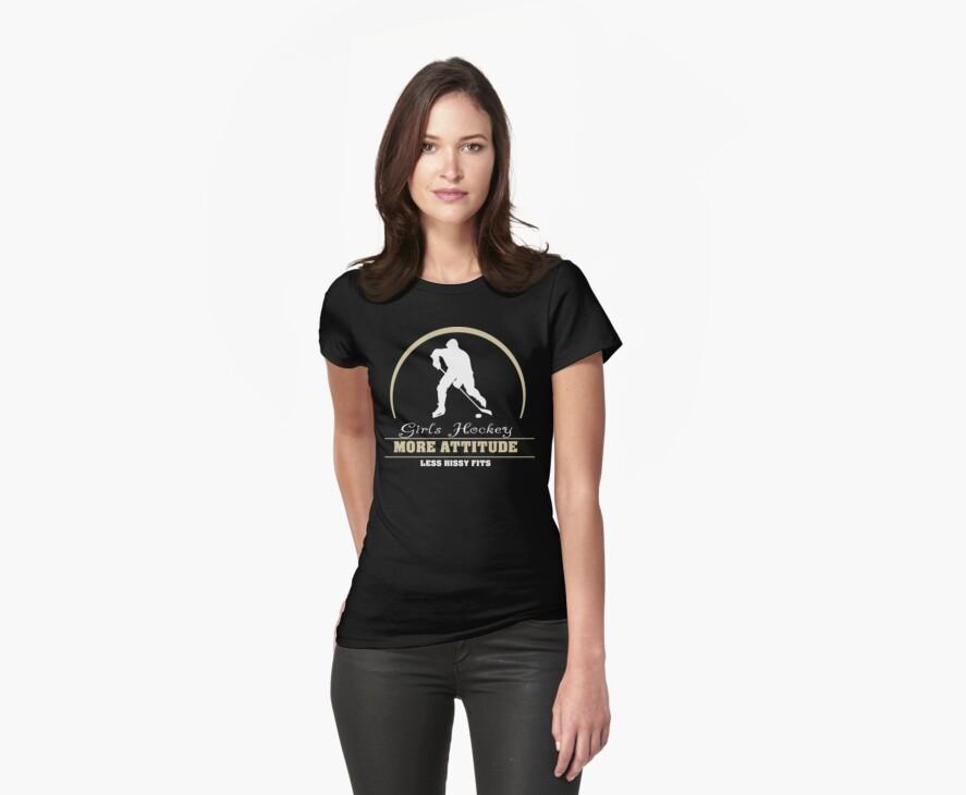 Girls Hockey by SportsT-Shirts