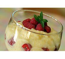 Creamy Pudding Photographic Print