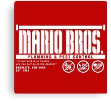 Mario Bros. Plumbing & Pest Control Canvas Print