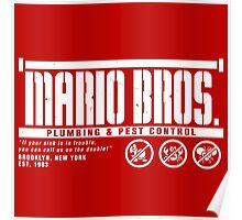 Mario Bros. Plumbing & Pest Control Poster