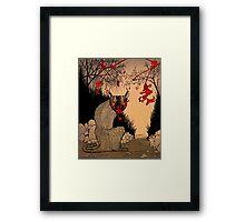 Wildcat peel Framed Print