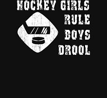 Hockey Girls Rule Womens Fitted T-Shirt
