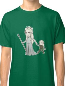 Papa Elf and Baby Leaf Classic T-Shirt