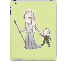 Papa Elf and Baby Leaf iPad Case/Skin