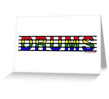 Drums of Many Colours Greeting Card