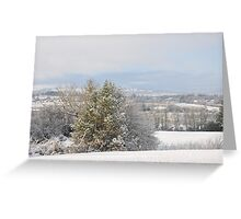 Winter in the hills of Donegal Greeting Card