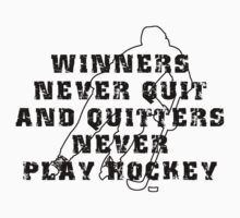 Hockey Quote by SportsT-Shirts