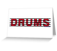 Drums Red Greeting Card