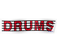 Drums Red Poster