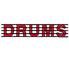 Drums Red Photographic Print