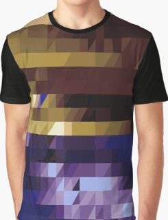 Blue and Gold Graphic T-Shirt