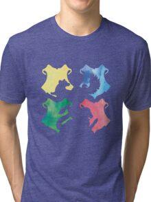 Hogwarts Houses Watercolor  Tri-blend T-Shirt