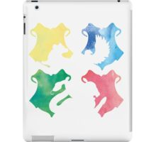 Hogwarts Houses Watercolor  iPad Case/Skin