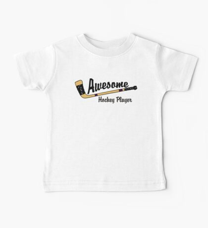 Awesome Hockey Player Baby Tee