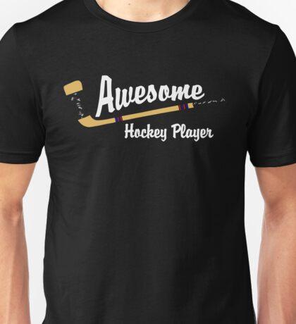 Awesome Hockey Player Unisex T-Shirt