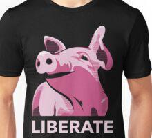 Liberate (Pig, No Background) Unisex T-Shirt
