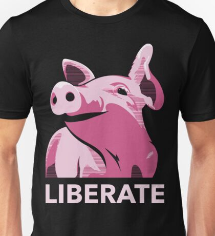 Liberate (Pig, No Background) Unisex T-Shirt