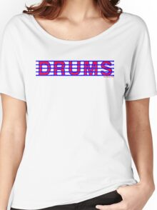 Drums Red and Blue Women's Relaxed Fit T-Shirt