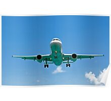Air transportation: passenger airplane. Poster