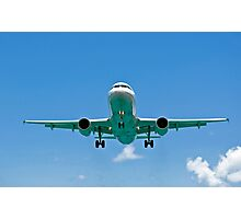 Air transportation: passenger airplane. Photographic Print