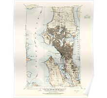 USGS Topo Map Washington State WA Seattle 243636 1908 62500 Poster