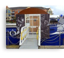 the barge Canvas Print