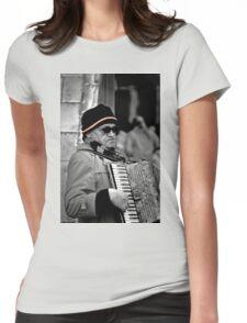 Street musician Womens Fitted T-Shirt