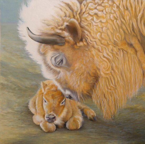 Miracle Moon & Silver Spirit - White Buffalo by Jane Lauren