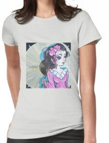 Geisha Girl  Womens Fitted T-Shirt