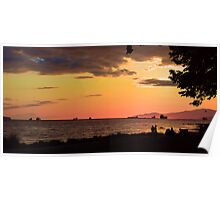 Sunset on English Bay Poster