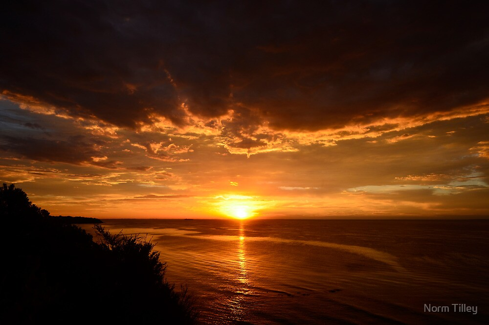 Cliff Top Sunset by Norm Tilley