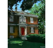 Woodford Mansion Photographic Print