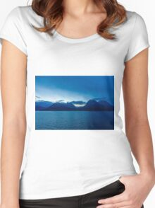 Norway Sea and Mountains Women's Fitted Scoop T-Shirt