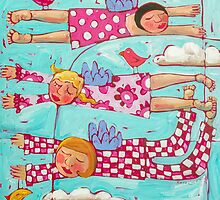 Slumber Party by ART PRINTS ONLINE         by artist SARA  CATENA
