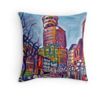 Harbour Centre From Gastown Throw Pillow
