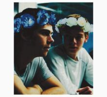 Newt and Thomas with Flowercrowns Baby Tee