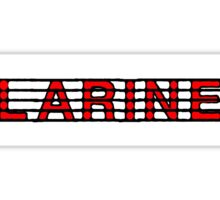 Clarinet Red Sticker