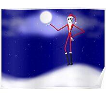 Jack Skellington Christmas Santa Poster