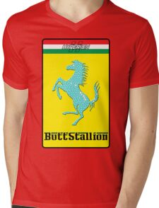 Butt Stallion Mens V-Neck T-Shirt