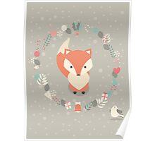 Christmas baby fox 02 Poster