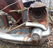 Front End Lots of Chrome Classic Wrecked Car by dww25921
