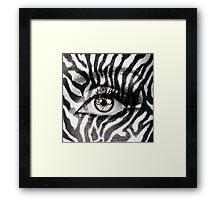 Zebra Framed Print