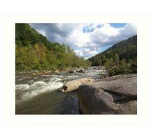 Rustic River Shot in Nicholas County, West Virginia Art Print