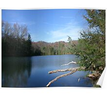 Beautiful West Virginia Mountain Lake Poster
