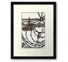Emily Bay, lone pine, nude bathing and baking in NI Framed Print