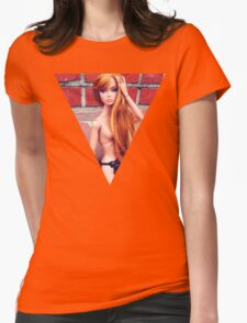 Lindsay Look Doll Bright Womens Fitted T-Shirt