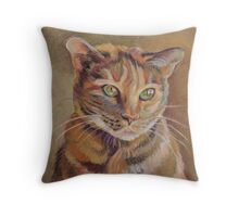 Calico Angel Throw Pillow